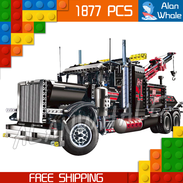 1877pcs Techinic 2in1 Tow Truck 20020 DIY Model Building Kit Blocks Gifts Transport Car Carrier Loader Toys Compatible With lego 760pcs techinic 2in1 new series