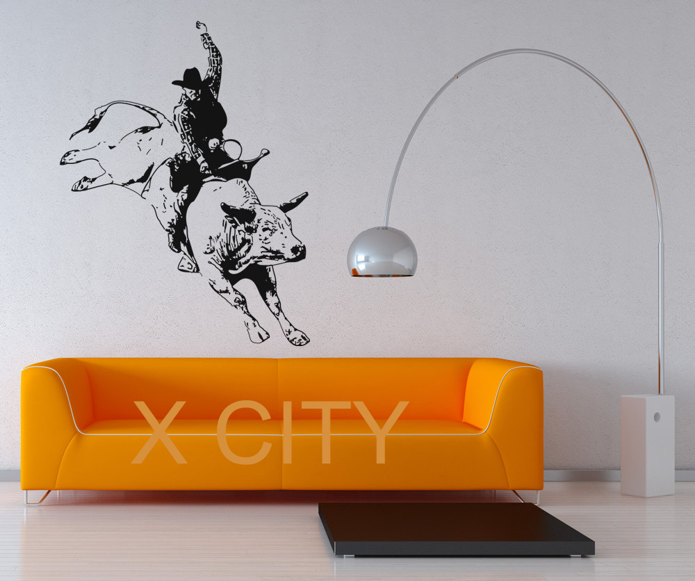 Rodeo Home Decor: Rodeo Cowboy Bullfight Decal Wall Art Vinyl Sticker Home
