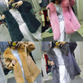 Double Side Wool Outwear 2016 Autumn and Winter Fashion Removable Fox Fur Liner Fur Coat Keep Warm Medium-long Female Overcoat