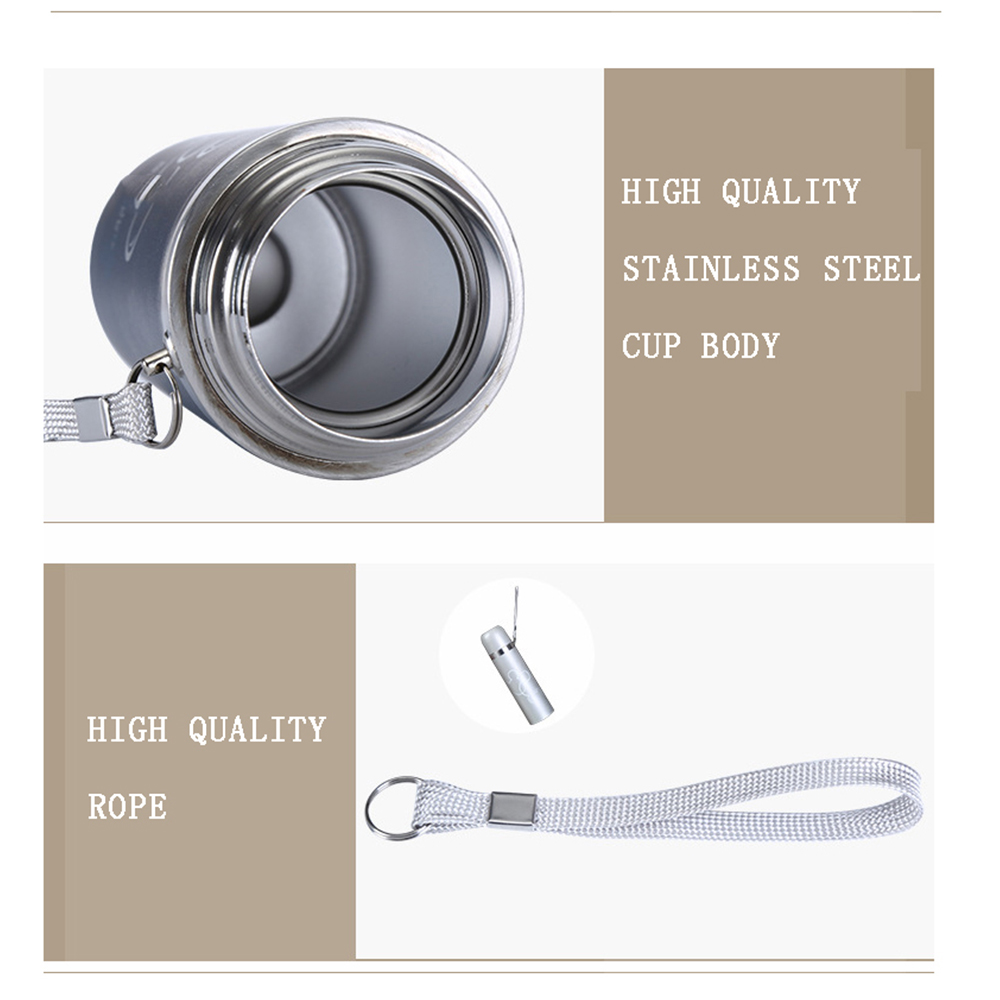 Wholesale Stainless steel cup with a lid Vacuum flask Ms M Cups Students thermos kettle Outdoors Gifts Cup Mug Cold air cup in Water Bottles from Home Garden