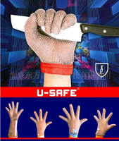 factory sales five fingers anti rusting safety protection stainless steel mesh gloves