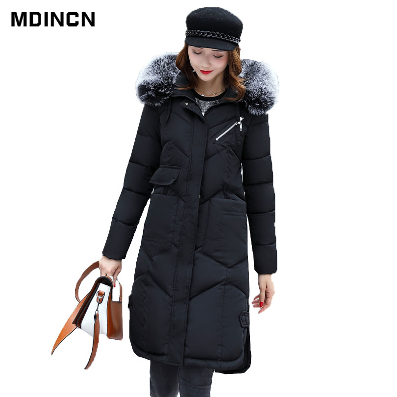 New Winter Collection Brand Fashion Down Thick Women Jacket Hooded Women Parkas Coats Plus Size 3XL LR3