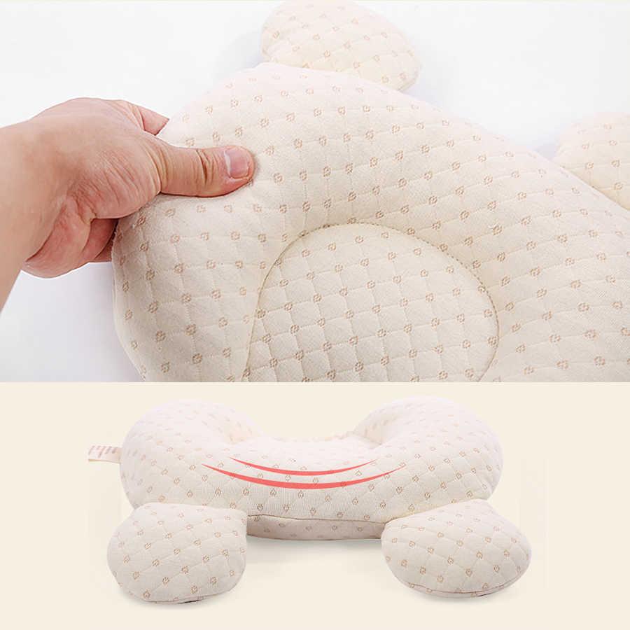 Almohada de látex Anti cabeza plana para bebé, cabeza de cojín de bebé recién nacido, almohada Anti rollo para decoración de cuello de bebé chico habitación Decoración