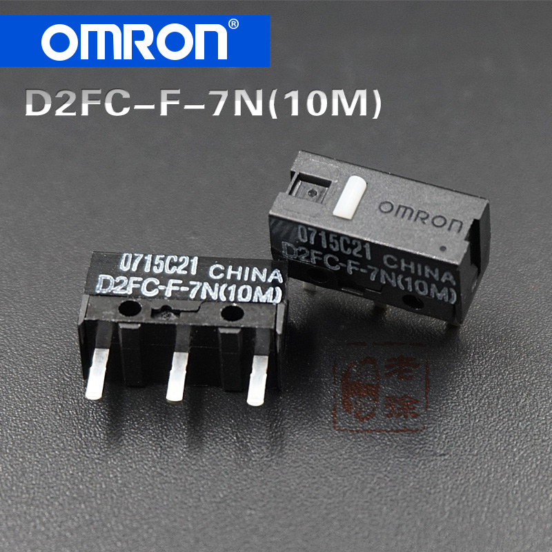 10pcs/pack 100% original made in China Omron mouse micro switch D2FC-F-7N (10M) for Logitech Microsoft dedicated button цена 2017