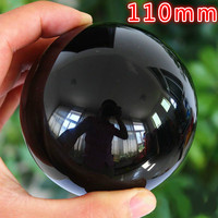 110mm Rare Natural Black Obsidian Sphere Large Crystal Ball Healing Stone HITM Quartz Crystal Balls Free to send crystal base