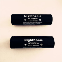 Original Nightkonic 10 PCS/LOT 2000mAh 18650 Battery 3.7V Li-ion Rechargeable Battery BLACK