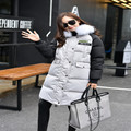High Quality Natural Fox Fur 2016 Winter Women's Down Jackets Women's Patchwork Thicken Down Coats Parkas Snow Outerwear YR37