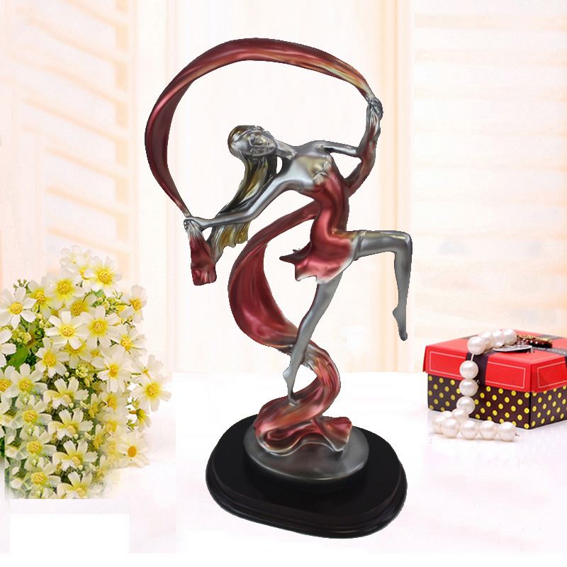 2017 Resin Crafts Birthday gift decoration Dance Girl Craft Statue Graceful Ballet Dancing Girl Ornaments Living room home decor