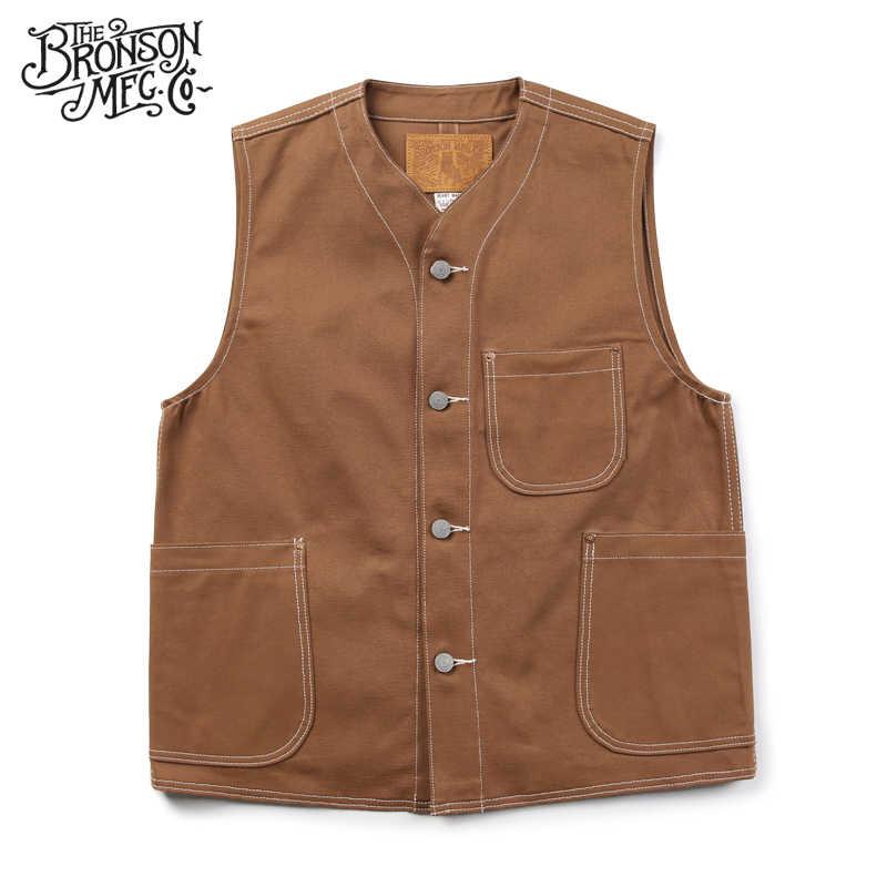 Bronson Reproduction 1873 Nevada Gold Rush Canvas Vest Vintage Men's Waistcoat