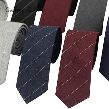 Nowe modne męskie krawaty na co dzień w paski krawaty dla mężczyzn wąskie 6cm krawat bawełniany dla dorosłych klasyczne solidne krawaty na formalne na wesele tanie i dobre opinie Gemay G M Moda COTTON Szyi krawat Jeden rozmiar LD201