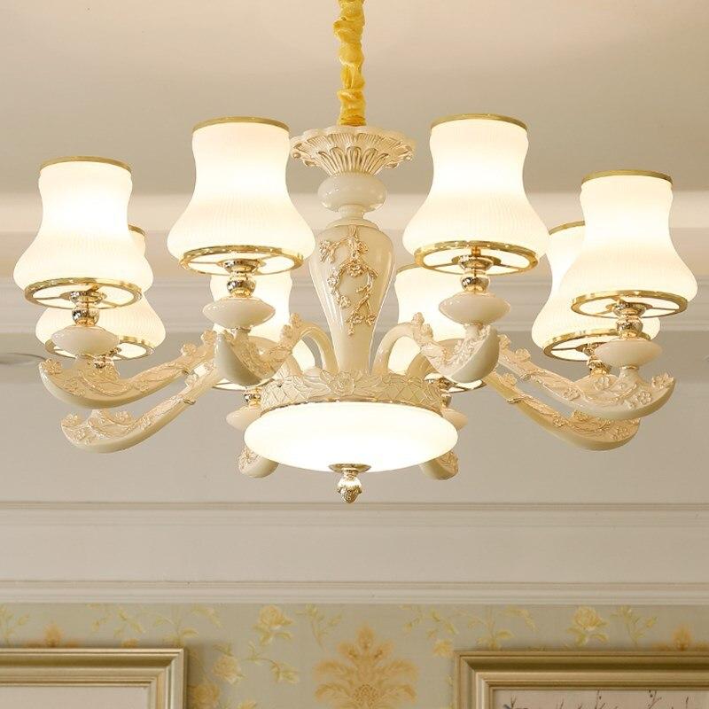 Modern LED chandelier living room suspended lamp Zinc alloy luminaires bedroom lighting home fixtures Nordic hanging lights Pendant Lights     - title=