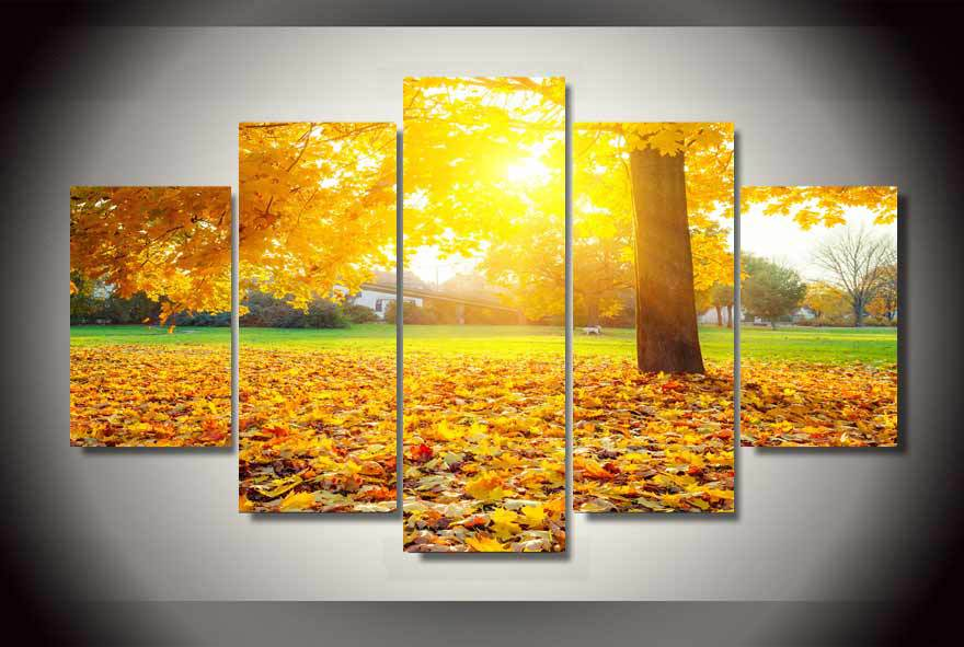 modern decorative picture printed fall foliage painting childrens room decor print picture canvas decor picture modular - Cheap Decorations