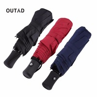 OUTAD 3 Colors 94 66cm Durable Fashionable Advanced Fully Automatic UV Proof Three Folding Business Solid