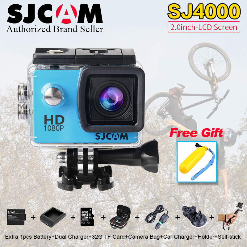 Update !SJCAM SJ4000 Action Video Camera 30m Diving SJ CAM 4000 2.0 Sport DV 1080P Full HD Mini M 10 Waterproof Helmet Camcorde sj4000 wifi full hd 1080p camera sport 2 0 lcd sj 4000 helmet cam go waterproof camera pro style sport dv mini camera sport
