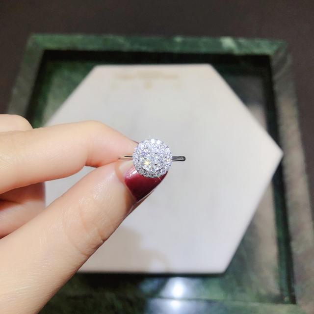 18K White/Yellow/Rose Gold (AU750) Women Wedding Ring 0.5 CT H/SI Certified Real Natural Round Cut Diamond Engagement Ring