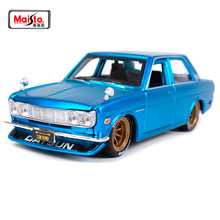 Maisto 1:24 Nissan 1971 DATSUN 510 Retro performance car Diecast Model Car Toy New In Box Free Shipping NEW ARRIVAL 32527 maisto 1 24 2009 gtr35 white car diecast for nissan police open car doors car model motorcar diecast for men collecting 32512