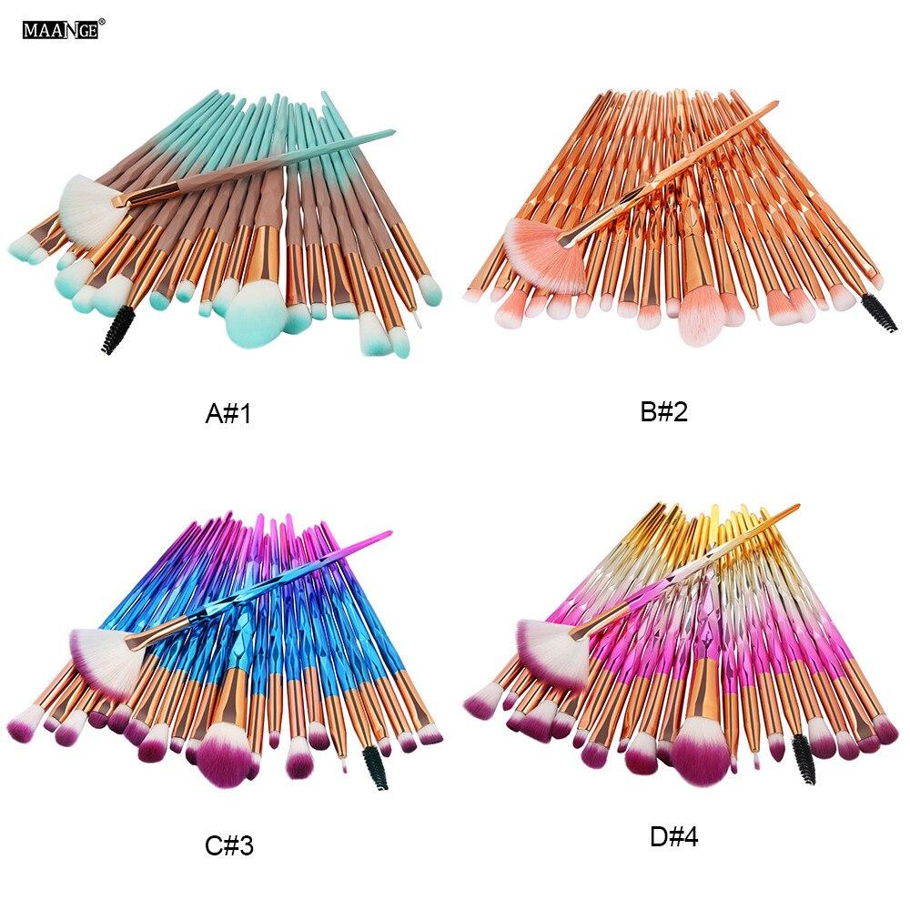 b3a0ea12393ea MAANGE 20 piezas Cosmetis maquillaje cepillos conjunto Fundación corrector  de polvo pinceles de maquillaje mezcla contorno que maquiagem en Rizadores  de ...