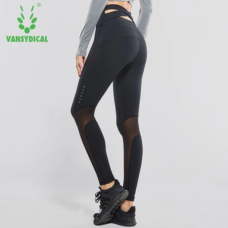 Sexy Women Yoga Pants High Waist Fitness Sport Leggings Tights Slim Running Sportswear Sports Pants Cross Belt Training Trousers