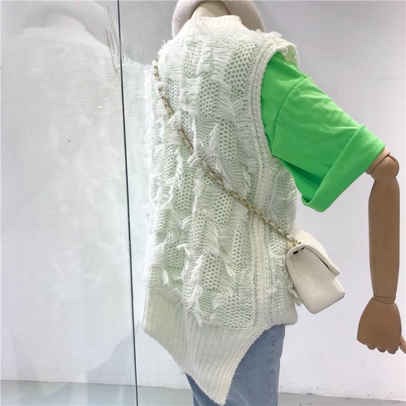5b61b7ed5 Las Streetwear 2019 Moda Jersey Suéter De Otoño Mujer Primavera blanco  amarillo Chaleco Azul Borla Mujeres Suéteres CBqpwnB8xr