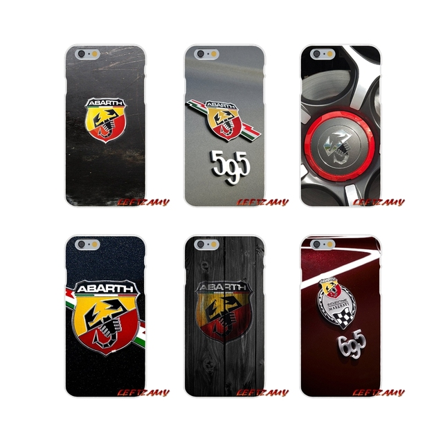 huge selection of 23e18 17aed US $0.99  Fiat Abarth Logo Accessories Phone Cases Covers For Samsung  Galaxy S3 S4 S5 MINI S6 S7 edge S8 S9 Plus Note 2 3 4 5 8-in Half-wrapped  Case ...