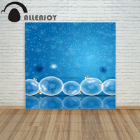 Allenjoy Photography Backdrops Winter Snowflakes Glass Kids Holiday Merry Baby Shower Digital Printing Christmas Backgrounds