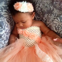Lovely Baby Dress Infant Girls Crochet 1Layer Tulle Tutu Dre