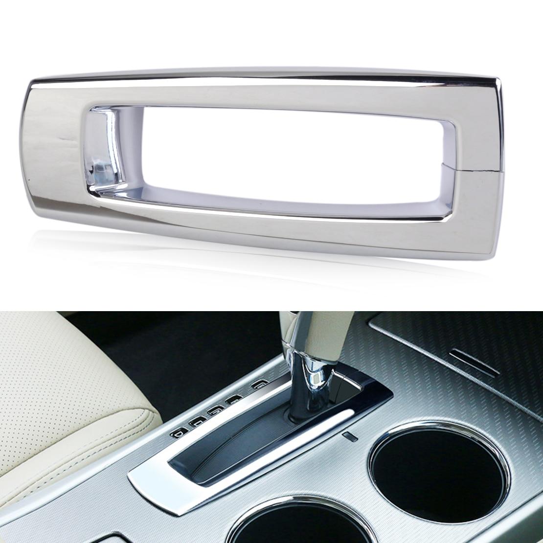 beler Silver Interior ABS Shift Gear Position Panel Cover ...