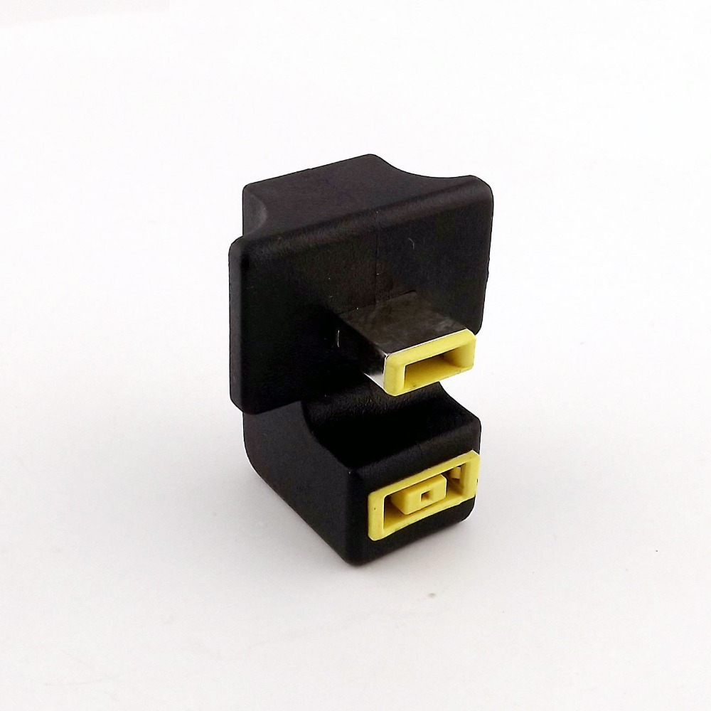 20x 180 Degree Angled Rectangle Port Male to Female Extension Charger Adapter For Lenovo ThinkPad