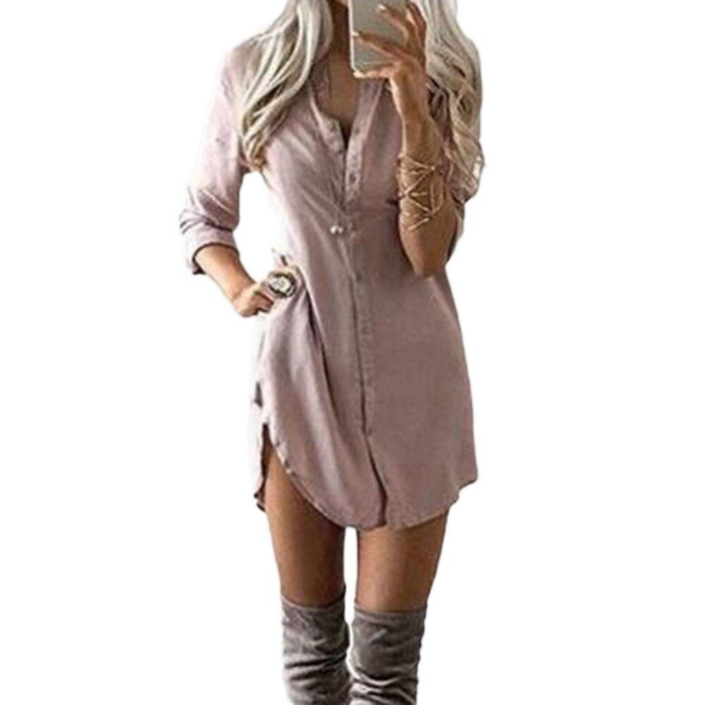 Fashion Loose Long Sleeve Chiffon Long Shirt Women Casual Lady Girl Irregular Tops Shirt ...