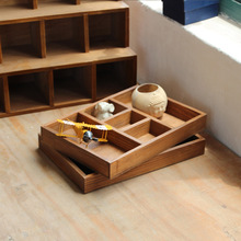 Five Lattice Food Flower Pot Wood Box Cosmetics Organizer Sundries Tray Wooden Storage Boxes Makeup Box Wood Pallets Furniture