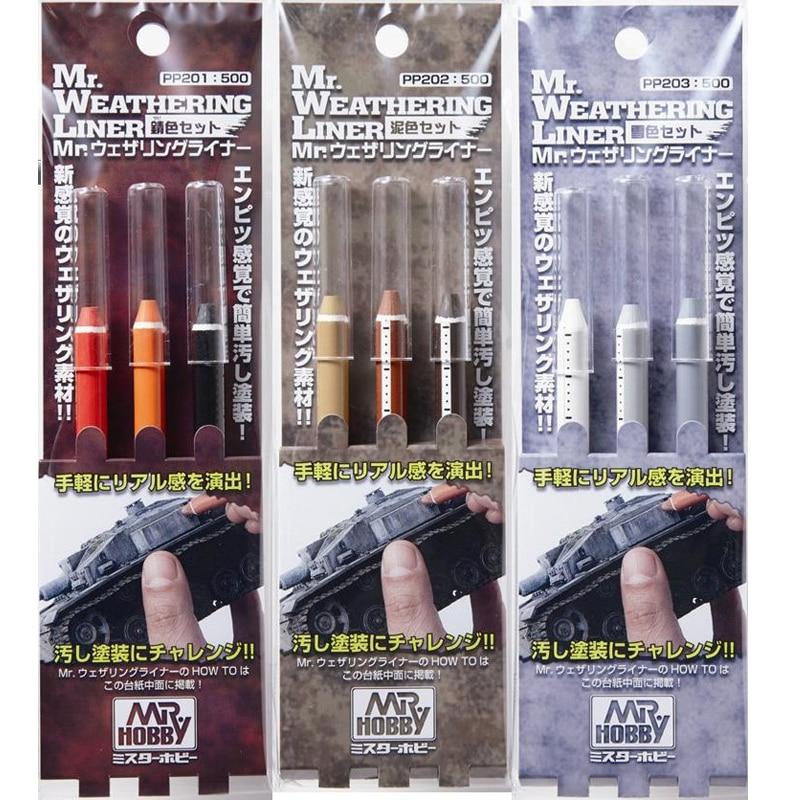 Mr Hobby Weathering Liner Rust Color Set Scenario Modelling Pigment Do Old  Effect Of Battle Damage Model Special Accessories