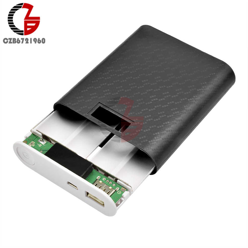 12000mAh 4X 18650 Power Bank Case USB Mobile Battery Charger DIY Box Shell LCD Display for iPhone Xiaomi Android Phone Charging