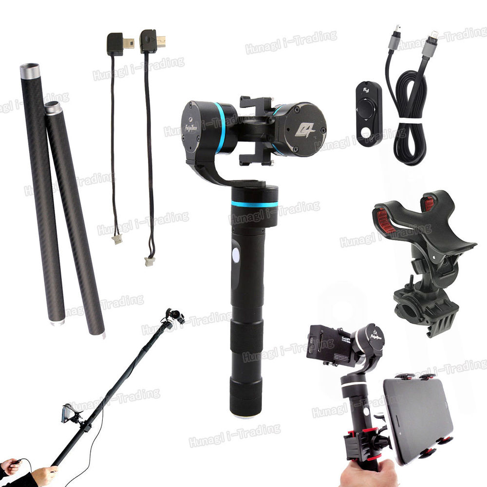 цена на Feiyu FY-G4 3-Axis Blue Handheld Gimbal Steady Stabilizer For GoPro Hero 4 3 3+