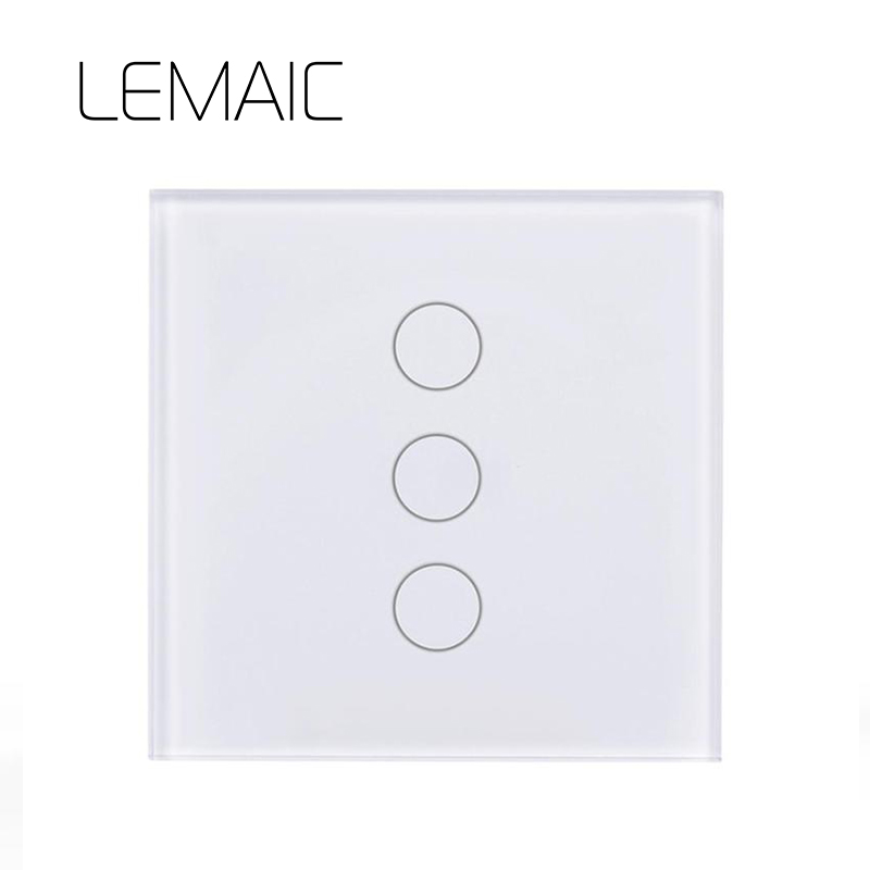 LEMAIC Touch Switch 1 2 3 Gang 1 Way Wireless Remote Control Light Switch LED Indicator For RF433 Smart Home Touch Switch Big Re шлепанцы reserved
