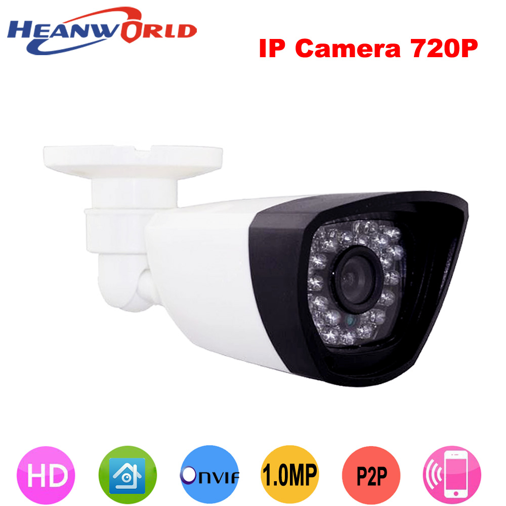 Heanworld 1280*720P H.264 1.0 MP webcam HD ONVIF IP Camera P2P 30pcs LEDs Night Vision Security Network IP CCTV Camera IP Cam h 264 1mp hd 720p ip camera poe outdoor ip66 network 1280 720 bullet security cctv camera p2p onvif night vision 40m ip camera