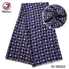 Digital printed african silk fabric high quality  pattern design material Eco-Friendly nigerian SI180222