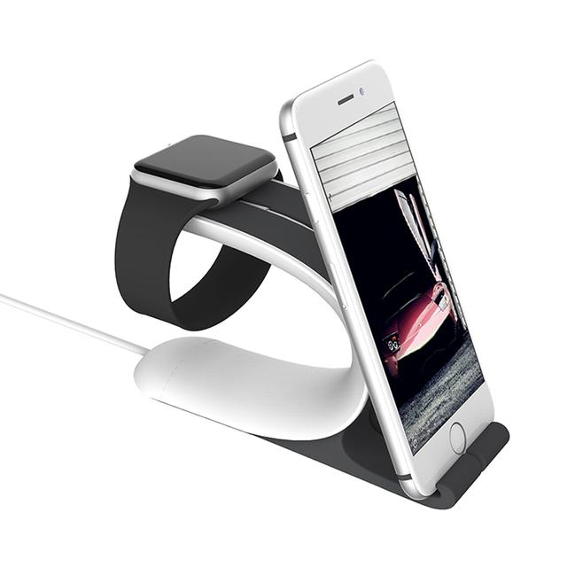 Multifunción manzana vigilancia del sostenedor del soporte de carga del muelle del cargador de la estación para el iPhone Pad Tablet soporte de reloj para el reloj 38 mm / 42 mm