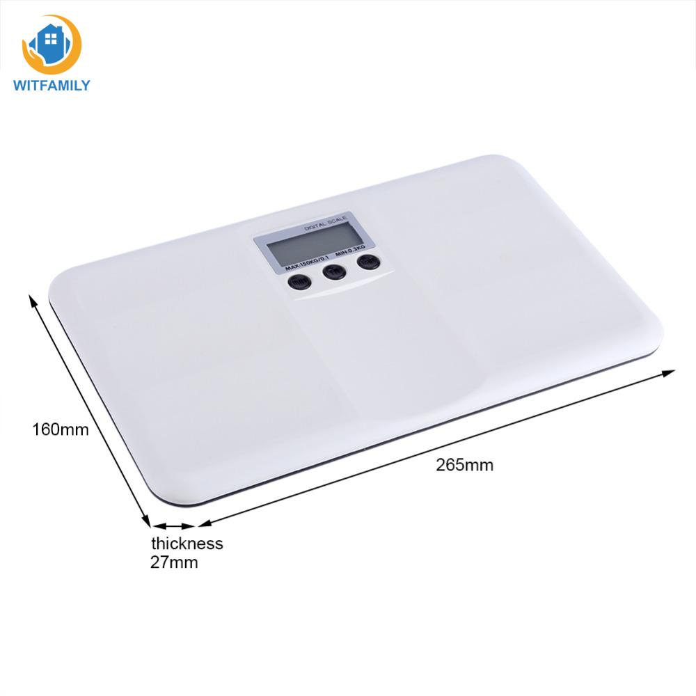 LCD Digital Electronic On/Tare Function Low Battery/Lock Alarm Baby Pet Body Weighting Scale ...