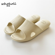 WHOHOLL Summer Women Slippers Beach Sandals Soft Bottom Home Non-slip Bathroom Couple 35-44 Size