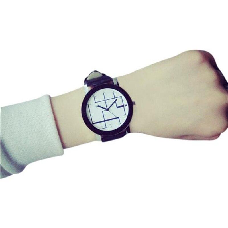 2017 New Style relojesNEW Watch Fashion Lovers Men Women Leather Band Quartz Analog Wrist Watch Clock