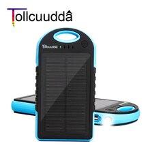 Li-polímero com LED Carregador de Bateria Externa para o para o Iphone Tollcuudda Banco Energia Solar 12000 MAH Powerbank Iphone Telefones Xiami Celular