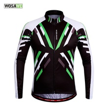 WOSAWE Men's Women's Cycling Jersey Mountain Road Bike Bicycle Sportswear Ciclismo Long Sleeve Cycle Wear Clothing 3D Padded