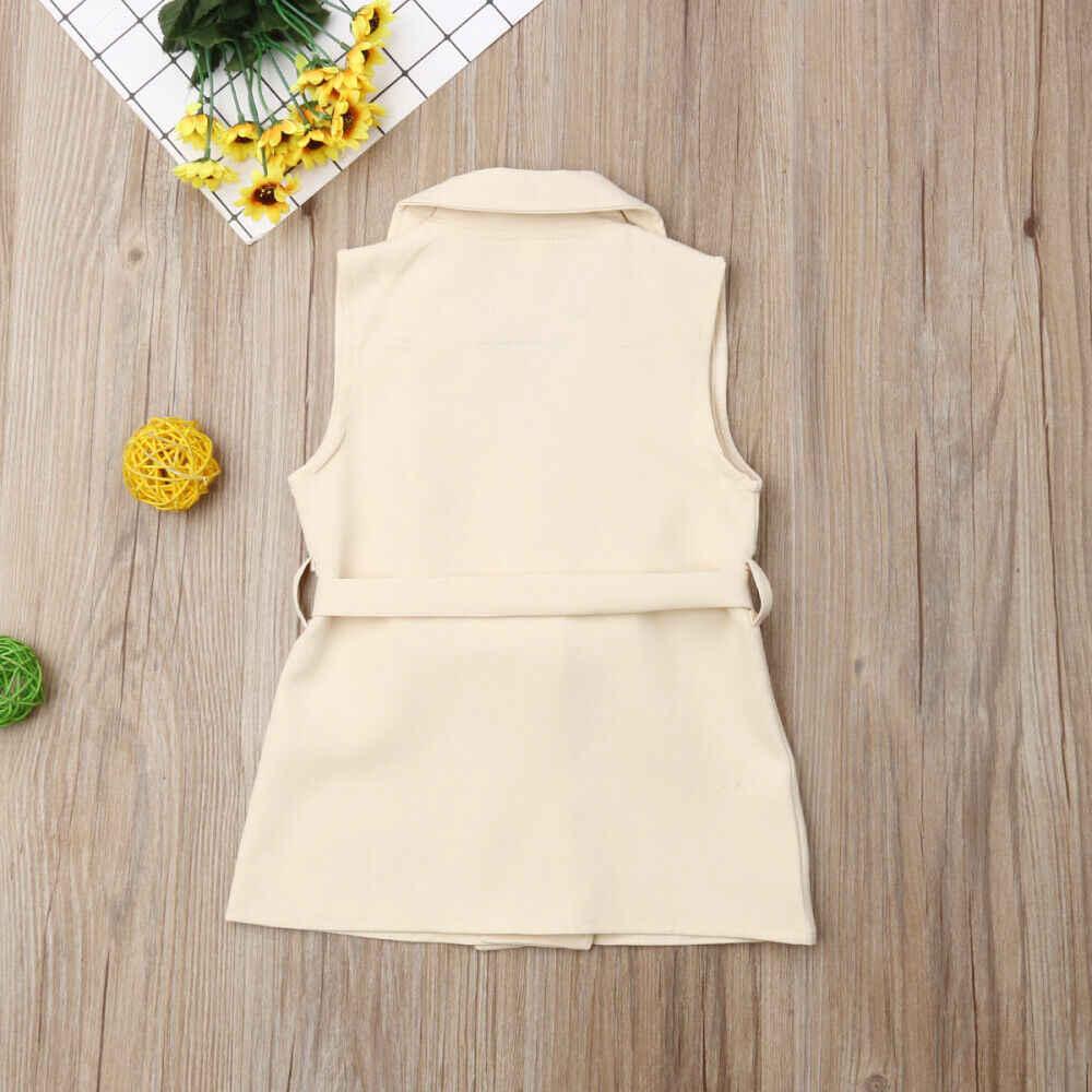 2019 ベビー夏の服 2-7Y ファッション幼児キッズガールズエレガントコートジャケットウインドブレーカー上着トレンチファッションジャケットドレス