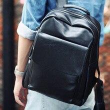 Купить с кэшбэком Tide Male Backpack Shoulder Bag Pu Leather Business Students Bag Travel Bags