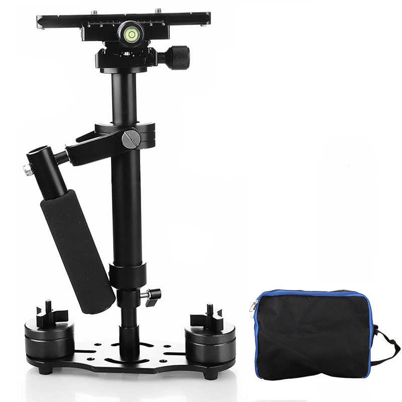 S40 plus 40cm Professional Handheld Stabilizer Steadicam for Camcorder Digital Camera Video Canon Nikon Sony DSLR Mini Steadycam s40 40cm professional carbon fiber mini dslr video camera dv camcorder stabilizer steadycam steadicam for canon sony nikon gopro