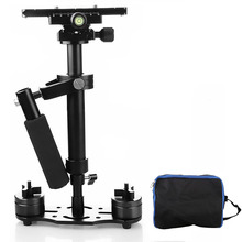 S40 plus 40cm Professional Handheld Stabilizer Steadicam for Camcorder Digital Camera Video Canon Nikon Sony DSLR Mini Steadycam puluz for steadycam u grip c shaped handgrip camera stabilizer w h tripod head phone clamp adapter for steadicam dslr stabilizer