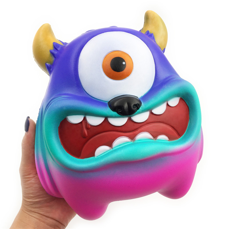 20cm Giant Big Eye Adorable Rainbow Monster Scented Soft Squishy Slow Rising Squishies Squeeze Toys For Adult Children Gift