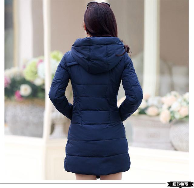 new 2017 winter hooded jacket women cotton wadded overcoat medium-long slim casual fashion parkas plus size XXXL wine red coats