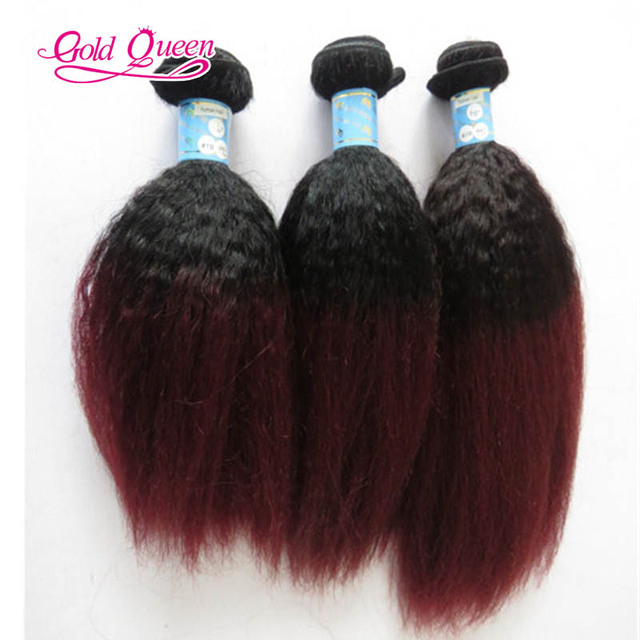 8a Brazilian Hair Weave Bundlesombre 1b99j Kinky Straight Hair