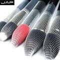 Jaf 12 unids/lote malla malla de nylon puro al por menor resbalón en Maquillaje Cepillo de Guardia Que Forma La Forma Del Pelo Maquillaje Cerdas Suaves Protectores BP01